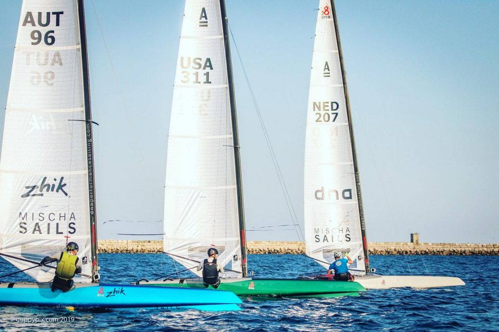 DNA-Performance-Sailing-F1x-foiling-catamaran-MischaHeemskerk-BruceMahoney-MichaelMödlhammer-DNA-team-AcatWorlds2019