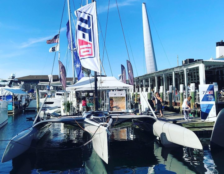 DNA-Performance-Sailing-Newport-Boat-Show-sept2019-TF10-foiling-trimaran-boatbuilders-TF10Class-exhibition-ambience